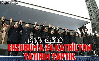 Cumhurbaşkanı Erdoğan, Erzurum yapılan yatırımları anlattı