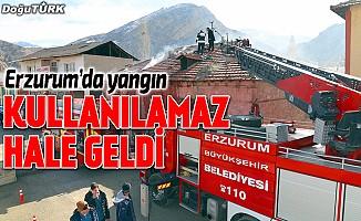 Erzurum'da işyeri yangını