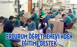 Erzurum Öğretmenevi'nden eğitime destek