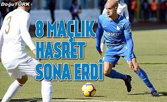 Erzurumspor'un 8 maçlık galibiyet hasreti sona erdi