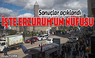 Erzurum'un nüfusu arttı