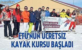 ETÜ'nün Palandöken'deki ücretsiz kayak kursu başladı