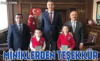 Öğrencilerden Erzurum adliyesine teşekkür ziyareti