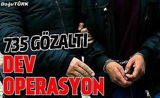 Terör örgütü PKK/KCK üyelerine operasyon: 735 gözaltı