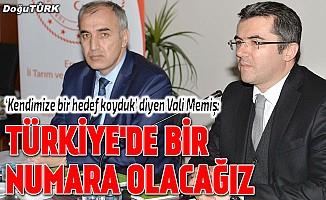 Vali Memiş:Türkiye'de bir numara olacağız