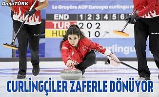 Curlingçiler zaferle dönüyor