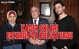 Eğitim için geldikleri Erzurum'da evlendiler