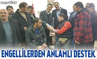 Engellilerden Erzurumspor'a maddi destek