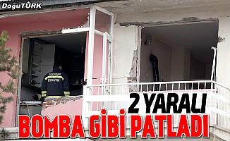 Erzurum'da gaz sıkışması sonucu patlama: 2 yaralı