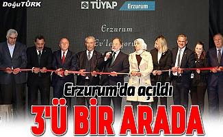 Erzurum'da üç fuar birden açıldı