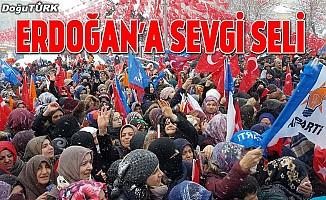 Erzurumlulardan Cumhurbaşkanı Erdoğan'a sevgi seli