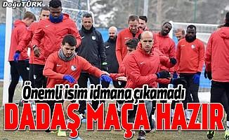 Erzurumspor, Trabzonspor maçına hazır