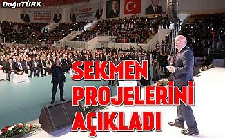 Sekmen: Erzurum için büyük hedeflerimiz ve vizyon projelerimiz var