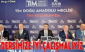 TİM Doğu Anadolu Meclisi Erzurum'da toplandı