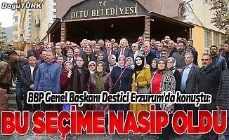 BBP Erzurum'da bir ilki başardı