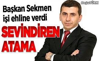 Erzurum Büyükşehir'de sevindiren atama