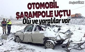 Erzurum'da otomobil şarampole devrildi: 1 ölü, 2 yaralı