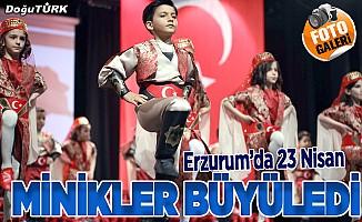 Erzurum'da 23 nisan coşkusu