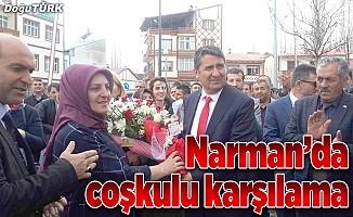 Narman Belediye Başkanı Eser'e yoğun ilgi
