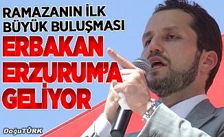 Erbakan Erzurum'a geliyor