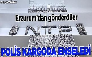 Erzurum'dan gönderilen kargodan uyuşturucu çıktı