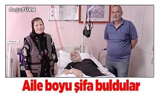 Azerbaycanlı aile şifayı Erzurum'da buldu