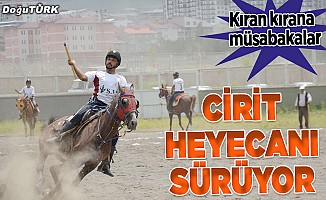 Erzurum'da atlı cirit heyecanı