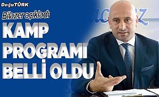 Erzurumspor'un kamp programı belli oldu
