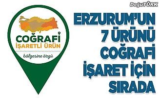 Erzurum'un 7 ürünü tescil bekliyor.