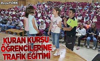 İspir'de Kur'an kursu öğrencilerine trafik eğitimi