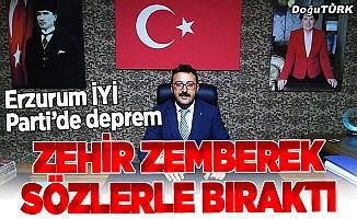 İYİ Parti'de Erzurum depremi