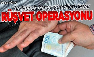 """Jandarmadan 17 ilde """"rüşvet"""" operasyonu"""
