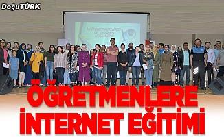 Öğretmenler internet kullanımı hakkında bilgilendirildi