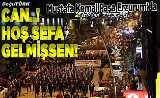 Atatürk'ün Erzurum'a gelişinin 100. yıl kutlamaları fener alayıyla başladı