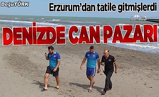 Erzurum'dan tatile giden aileyi cankurtaranlar kurtardı