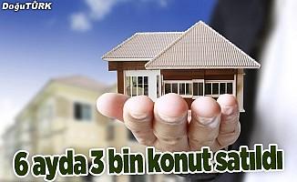 Erzurum'da 6 ayda 3 bin 118 konut satıldı