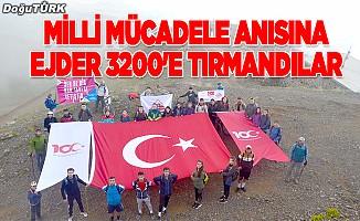 Milli mücadele anısına Ejder 3200'e tırmandılar