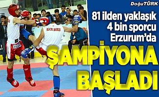 Türkiye Kick Boks Şampiyonası Erzurum'da başladı