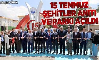 Aziziye'ye '15 Temmuz Şehitler Anıtı ve Parkı'