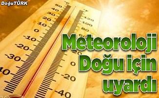 Doğu'da sıcak hava uyarısı