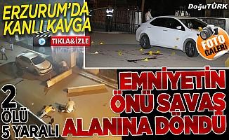 Erzurum'da ortalık kan gölüne döndü: 2 ölü, 5 yaralı