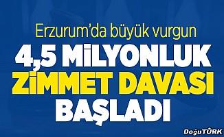 """Erzurum sağlıktaki """"zimmet"""" davası başladı"""