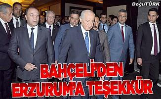 Bahçeli'den Erzurum'a teşekkür