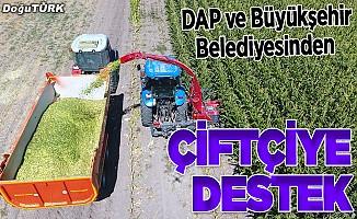 DAP ve Büyükşehir Belediyesinden çiftçilere tarım desteği