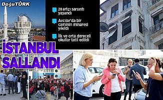 İstanbul'da 5,8 büyüklüğünde deprem