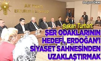 """""""Şer odaklarının hedefi, Erdoğan'ı siyaset sahnesinden uzaklaştırmak"""""""