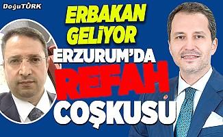 Erbakan Erzurum'a Osmanoğlu ile geliyor