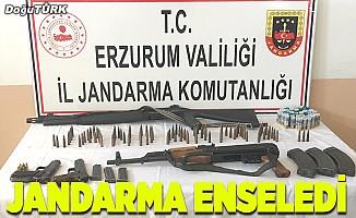 Erzurum'da silah kaçakçılığı operasyonu