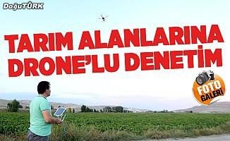 """Erzurum'da tarım alanları """"drone"""" ile denetleniyor"""