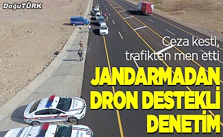 Jandarmadan drone destekli trafik denetimi